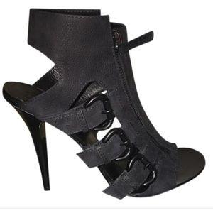 Giuseppe Zanotti Black nubuck buckle sandals